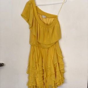 Yellow 1 shouldered dress